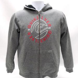Quiksilver Gray Fleece-Lined Sweatshirt/Hoodie